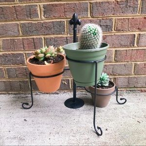 Other - Metal 3-tier adjustable plant stand